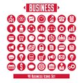 Vector set of business icons and design elements for your layout