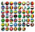 Vector set of buttons flags of africa for web and print use Royalty Free Stock Image