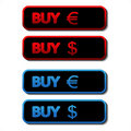 Vector set of buy buttons Stock Image