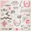 Vector Set: Calligraphic Design Elements Stock Photos
