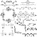 Vector set of calligraphic design elements and floral frames Royalty Free Stock Photos