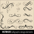 Vector set of calligraphic design elements and pag Royalty Free Stock Photography