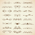 Vector set of calligraphic design elements page decor Stock Image