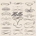 Vector set: calligraphic design elements Royalty Free Stock Photo