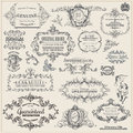 Vector set calligraphic design elements page decoration vintage frame collection Royalty Free Stock Photography