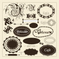 Vector set calligraphic elements design calligraphic vector Stock Photography