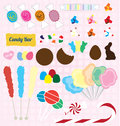 Vector set candy pieces collection of modern and retro Royalty Free Stock Photo