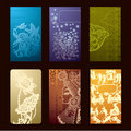 Vector set of card Stock Photography