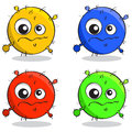 Vector set of cartoon germs in different colors Stock Photography