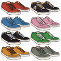 Vector Set of Cartoon Skaters Shoes