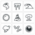 Vector Set of Cataclysm Icons.