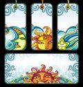 Vector set of Celestial symbols Royalty Free Stock Image