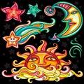 Vector set of Celestial symbols