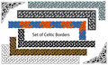 Vector set of Celtic style borders Royalty Free Stock Photos