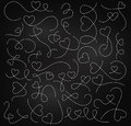 Vector Set of Chalkboard Dotted Arrows and Connecting Lines Royalty Free Stock Photo