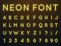 Neon, vector font.