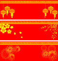 Vector set of chinese background Stock Images