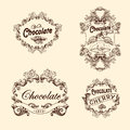 Vector set of chocolate labels, design elements Royalty Free Stock Photo