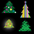 Vector set of Christmas trees Stock Photography
