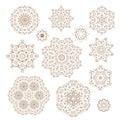 Vector set of circular ornaments. Royalty Free Stock Photo