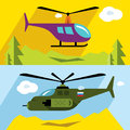 Vector Set of Civil and military aviation. Flat style colorful Cartoon illustration.