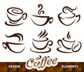 Vector set of coffee design elements Stock Photography