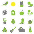 Vector set collection icons of color springs symbols