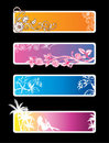 Vector set of color banners Stock Images