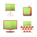 Vector set  color icons. tv  monitor Royalty Free Stock Photo