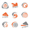 Vector set of color logos Stock Photo