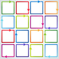 Vector set: Colorful arrows Royalty Free Stock Photo