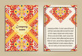 Vector set of colorful brochure templates for business and invitation. Portuguese, Moroccan; Spanish; Arabic; asian ornaments