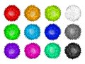 Vector set of colorful pom poms Royalty Free Stock Photo