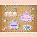 Vector set of cute frames illustration Stock Photo