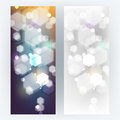 Vector set defocused bokeh lights background Royalty Free Stock Photo