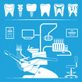 Vector set of dentist icons and teeth care Stock Photography