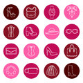Vector set design concept of fashion accessories Royalty Free Stock Photo