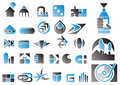 Vector set of design symbols Stock Images