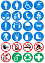 Vector set of different communication signs. Royalty Free Stock Photos