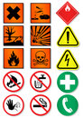 Vector set of different international signs. Stock Image