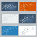 Vector Set of digital backgrounds for dna molecule structure. Royalty Free Stock Photo