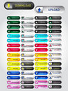 Vector set of download/upload buttons Royalty Free Stock Photography