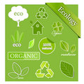 Vector set of ecological icons Royalty Free Stock Images