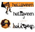 Vector set element for halloween and text fo backgrounds Stock Photo