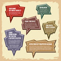 Vector set elements vintage style colors presentations comics blogs other promotional materials Royalty Free Stock Photo