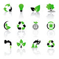 Vector set of environmental / recycling icons Royalty Free Stock Photos