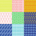 Vector set of ethnic Greek geometric and floral patterns Royalty Free Stock Photo