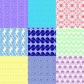 Vector set of ethnic Greek geometric seamless patterns Royalty Free Stock Photo