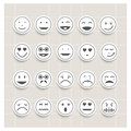 Vector set face emotion paper Royalty Free Stock Image