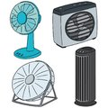 Vector set of fan